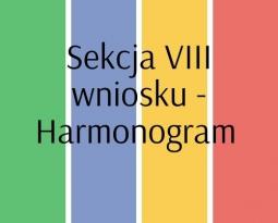 Sekcja VIII wniosku – Harmonogram