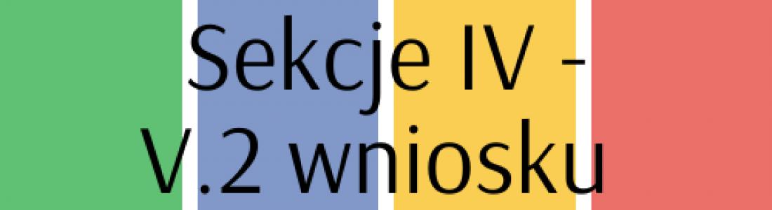 Sekcja IV – V.2