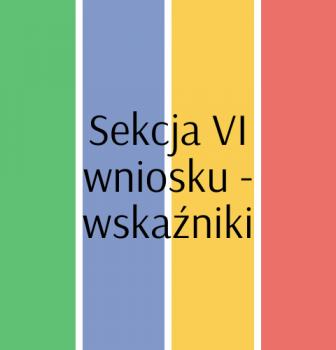 Sekcja VI wniosku – wskaźniki